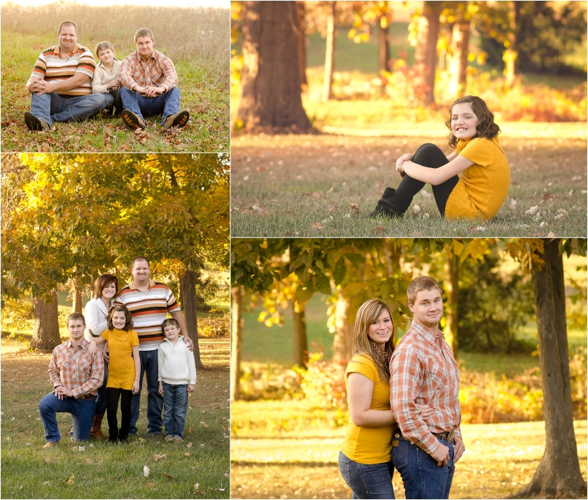Golden Fall Photo Session Fulton Mo Family Photographer